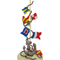 Buy Now: Hand Painted Metal Nautical Signal Flag Candle Holder Lot of 16