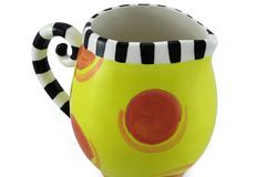 Buy Now: Colorful Circles and Stripes Ceramic Creamer Lot of 16