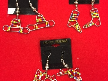 Buy Now: 100 prs-- TEXAS EARRINGS-- $ .99 pr