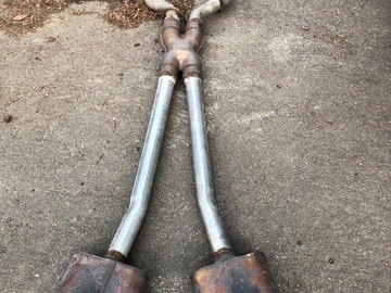 "Selling with online payment: 2.5"" exhaust with Flowmasters for long tubes PRICE DROP"