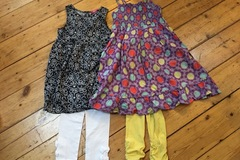 Selling with online payment: Dresses and leggings age 5-6