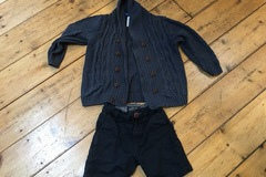 Selling with online payment: Cardigan and shorts age 3-4