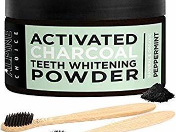 Buy Now: Activated Charcoal Teeth Whitener with 2 Bamboo Toothbrushes