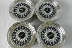 Selling: 16x7 +24 4x114.3 Authentic BBS RS - Classic Mesh 3 Piece Wheels