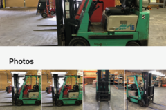 Renting out equipment (w/o operator): Forklift - Mitsubishi FG15 LPG