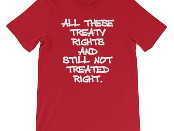 Selling: Treaty Rights T-shirt, Red,  4XL