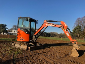 Daily Equipment Rental: Hitachi ZX26U 2.6 mini digger