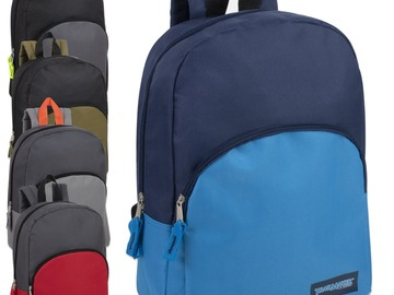 Buy Now: $3.95/pc - 15 Inch Promo Backpacks - 5 Assorted Colors - Boys