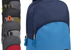 Liquidation Lot: 24 x 15 Inch Promo Backpacks - 5 Assorted Colors - Boys