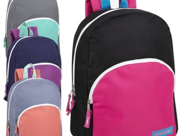 Liquidation Lot: 24 x 15 Inch Promo Backpacks - 4 Assorted Colors - Girls
