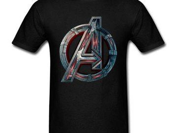 Vente avec paiement en ligne: Men's T-shirt 2018 Avengers Logo T-shirt Infinity Symbol T-shirt