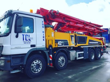 Daily Equipment Rental: 42M Concrete Boom pump