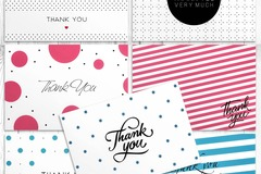 Buy Now: 25 BOXES x 42 Thank You Cards in Bulk -Classic Greeting Cards Set