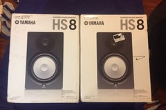 Renting out: Yamaha HS8 Powered Studio Monitors (pair)