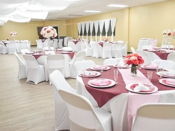 Request To Book & Pay In-Person (hourly/per party package pricing): Bubbly & Blooms Event Center