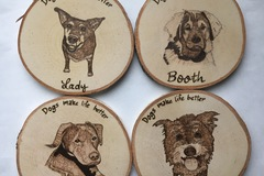 Selling: Personalized Dog Coasters set of 4