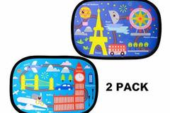 Buy Now: Lot of 29, Car Sun Shade (2 Pack) - adorable cartoon designs