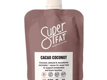 Online Listing: SuperFat Squeezable Nut Butters (Cacao Coconut)