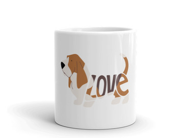 Selling: The LoVe Mug - Basset Hound