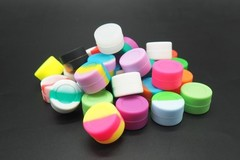 Buy Now: Wholesale 500 Piece Lot 2ML Silicone Containers Ships Fast - DHL