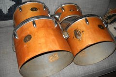 "Selling with online payment: Vintage Concert  Rack Toms, 14""13""12""10"". 3 Gretsch USA 1 S-and"