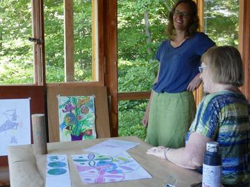 Workshop Angebot (Termine): Malen, Zeichnen und Linoldruck in der Tessiner Natur