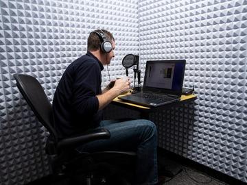 Rent Podcast Studio: Audio Booth