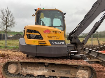 Hourly Equipment Rental: Volvo ECR88D Excavator Operated