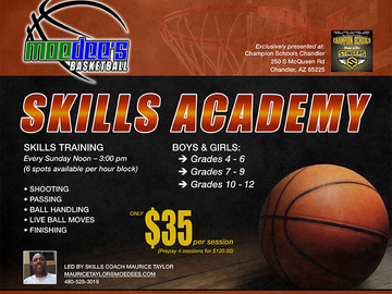 Selling with online payment: Basketball Skills Academy
