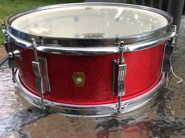 SOLD!: Sold! 1966 Ludwig Jazz Festival Snare Drum Red Sparkle