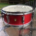 Selling with online payment or cash/check/money order/cash app/Venmo: Lower price! 1966 Ludwig Jazz Festival Snare Drum Red Sparkle