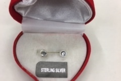 Buy Now: 50  prs-- Sterling silver cz earrings in velvet box--$1.99 each!