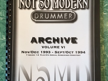 Selling with online payment: Not So Modern Drummer Back Issues; 7 issues from 11/93 - 8/94