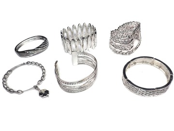 Buy Now: (55) Department Store Bracelets-- All Silvertone - MSRP $1,650
