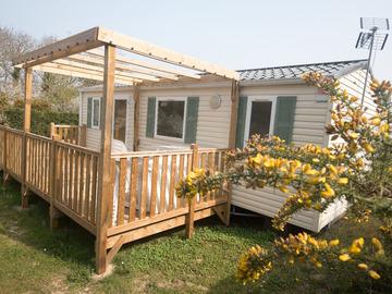 Location par jour: Mobil home - 2 chambres - Saint Lô d'Ourville
