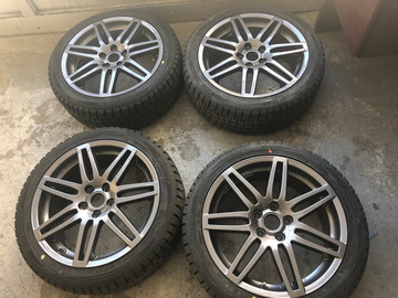"Selling: OEM 18"" Audi RS4 Type Wheels w/ Dunlop Winter Maxx tires"
