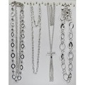 Buy Now: 50 pcs-- Department Store Necklaces--all Silvertone  $1.99 pcs
