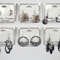 Buy Now: 65 pairs-- Department Store Earrings-- all Silvertone  $1.49 pr
