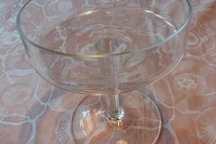 Ilmoitus: Jalallinen lasimalja, 7 kpl