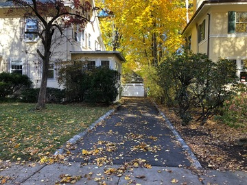 Monthly Rentals (Owner approval required): Brookline MA, Parking Space in unblocked flat driveway