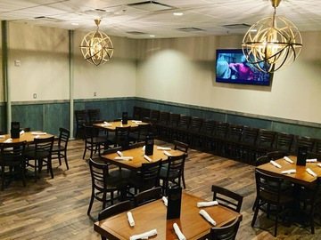 Request To Book & Pay In-Person (hourly/per party package pricing): Private Dining Area