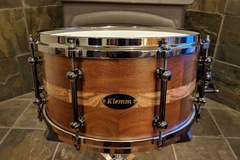 Selling with online payment: Hand crafted Brazilian Walnut/Zebra wood Snare drum