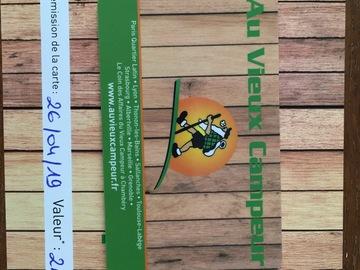 Vente: Carte cadeau Au Vieux Campeur - 260€