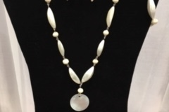 Liquidation Lot: 25 sets-- Mother of Pearl Necklace, Bracelet & Earrings $3.99 set