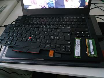 Myydään: Unused ThinkPad T480 Keyboard (Finnish), 8GB RAM, 250GB NVME SSD
