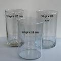 Ilmoitus: Maljakko/lyhty, kirkas lasi (10 kpl)