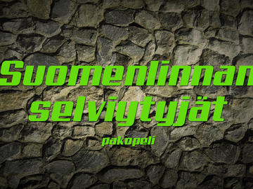 Offering (company listing): Suomenlinnan selviytyjät -pakopeli