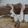 Vente au détail: Collier crochet dentelle avec pendentif