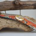 Vente au détail: Bracelet tissus et bouton nacre