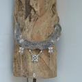Vente au détail: Collier Crochet Dentelle et Chaîne argentée
